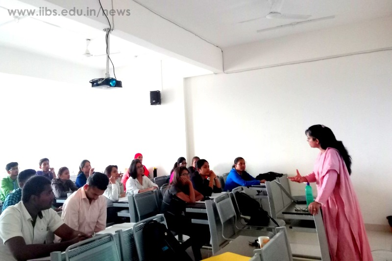 An Orientation of IIBS PGDM New Batch on Financial Services by Chartered Accountant, Padmini V