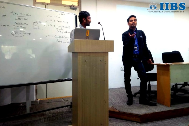 Workshop on Stock Exchange & Trading for IIBS PGDM Student by Motilal Oswal Group at Bangalore Campus | MOM