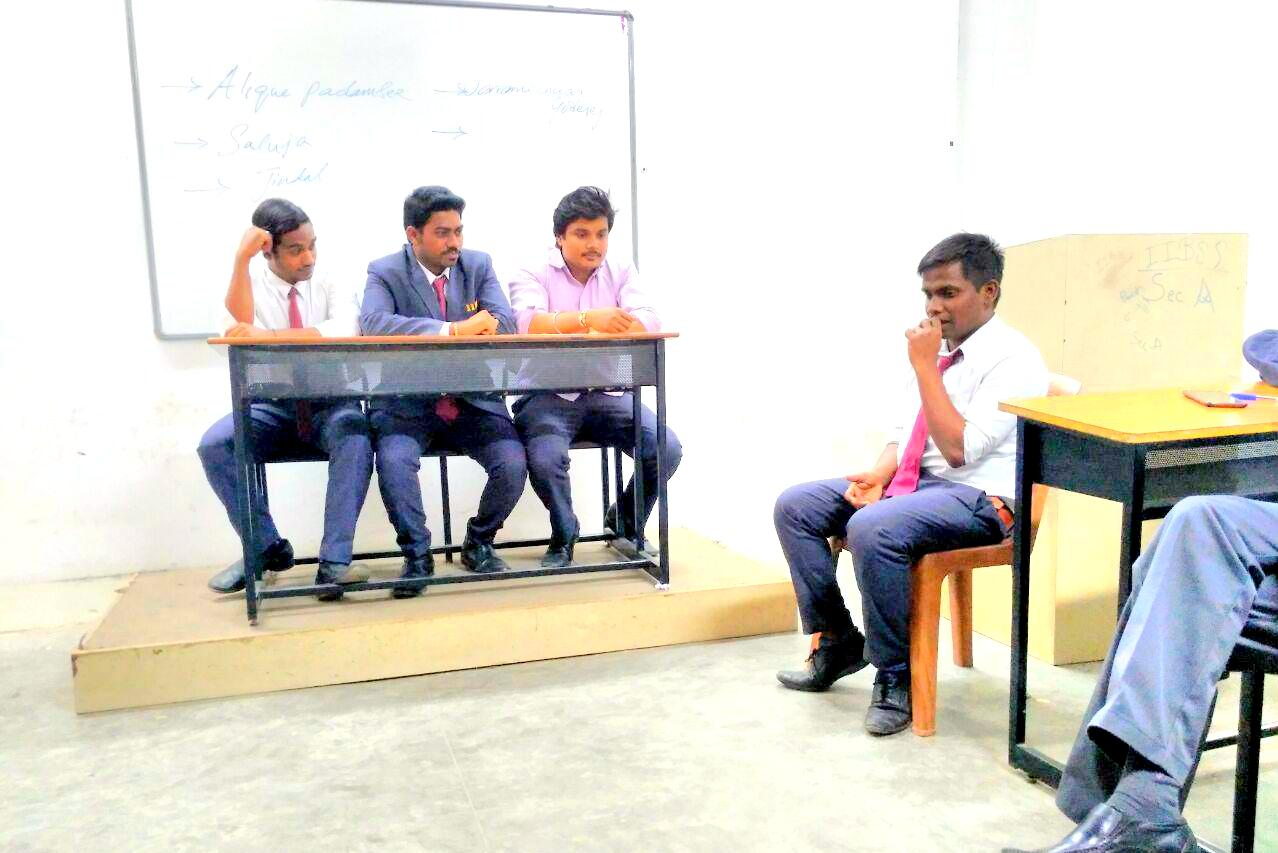 Mock Press- Meet your Corporate Personality at IIBS Bangalore