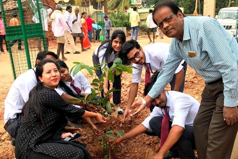 CSR Initiative: Tree Plantation involving MBA Student  - IIBS