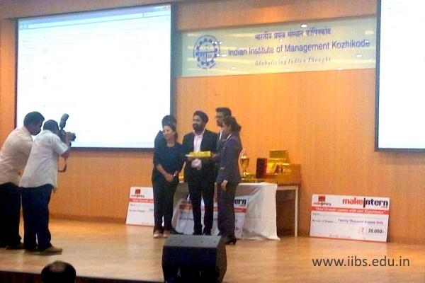 IIBS MBA/PGDM Students Participated International B-plan Championship Makrintern Echoes - IIM-Kozhikode