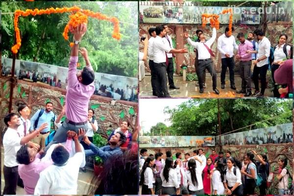 Janamashtmi Celebration with Pyramid Formation at IIBS Noida