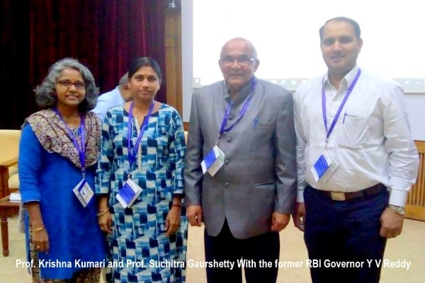 India Finance Conference (IFC) 2017 attended by Prof. Krishna Kumari & Prof. Suchitra Gaurshetty