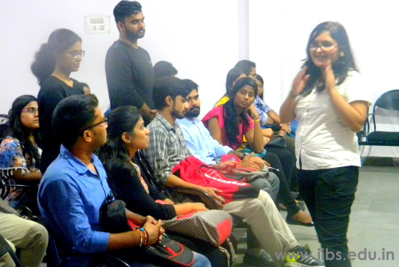 A Session on Entrepreneurship & Business Plan at IIBS Noida