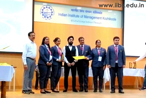 IIBS Team Scales Higher in Finale of IIM Kozhikode International B-Plan Competition
