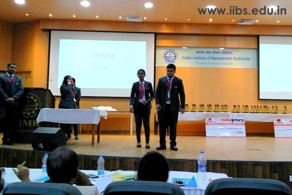 IIBS Team Scales Higher in Finale of IIM Kozhikode International B-Plan Competition