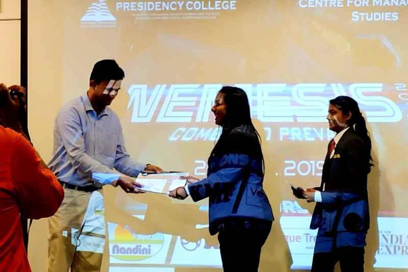 MBA Students of IIBS Participated in Nemessis Fest at Presidency College, Bangalore