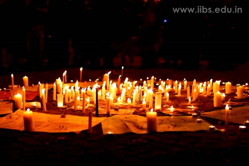 Pulwama Attack: Candle Light Vigil held at IIBS Kolkata