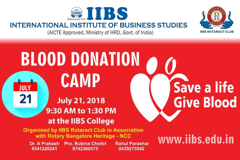 IIBS Blood Donation Awareness & Camp: Give Blood, Give Life!