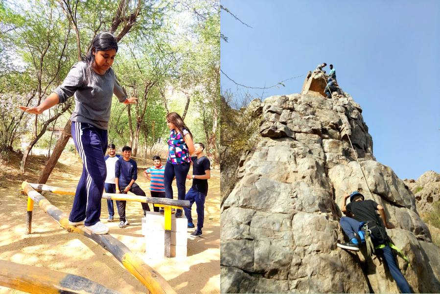 Adventure Learning Programme at Aravali Hills by IIBS Noida MBA Student
