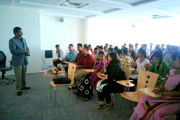 """IIBS has organised a guest lecture on """"Connected Corporate"""" by Mr.Sunil,  CEO, Greenestep"""