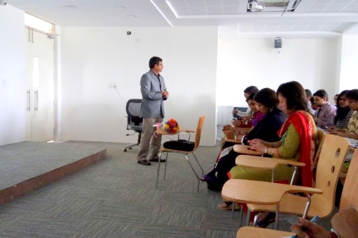 "IIBS has organised a guest lecture on ""Connected Corporate"" by Mr.Sunil,  CEO, Greenestep"
