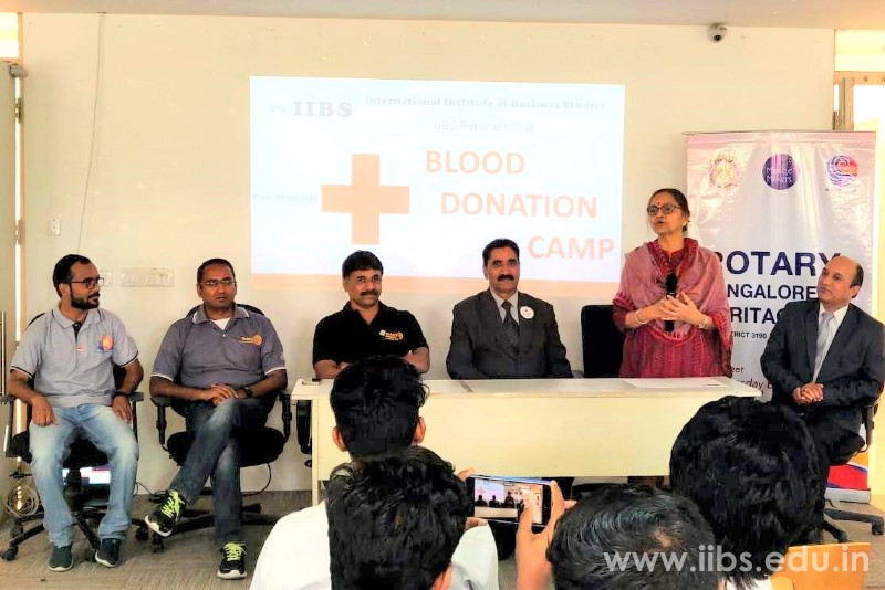 IIBS Bangalore Rotaract Club Organized a Blood Donation Camp in Association with Rotary Bangalore Heritage