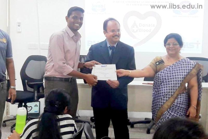 Blood Donation Camp Held by IIBS Rotaract Club, Bangalore
