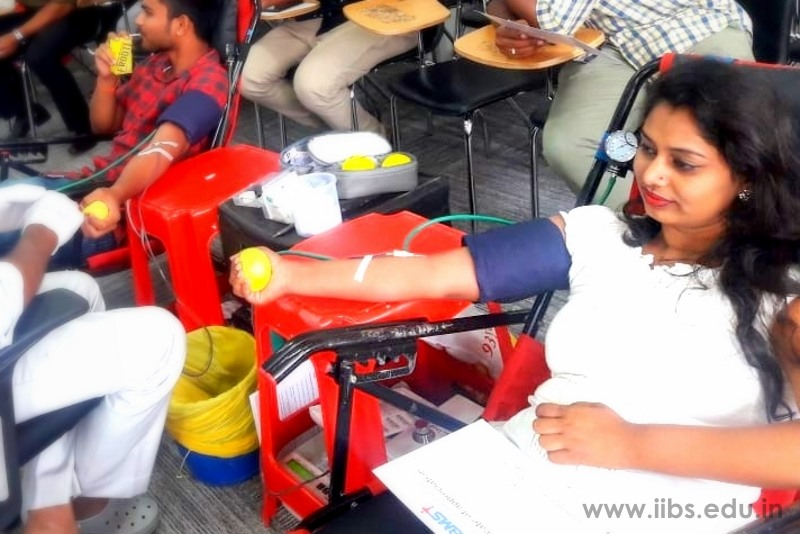 Blood Donation Camp Held by IIBS Rotaract Club, Bangalore