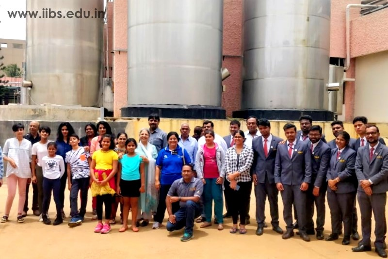 Industrial visit to Mother Dairy by IIBS Rotaract Club, Bangalore