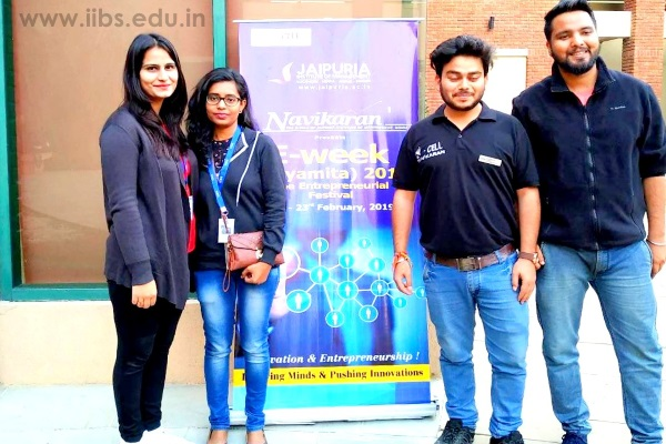 MBA Students of IIBS Noida Participated in Udaymita Fest at Jaipuria Institute of Management, Noida