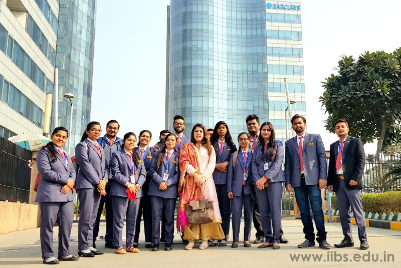 Industrial visit to Barclays Bank by MBA Student of IIBS Noida