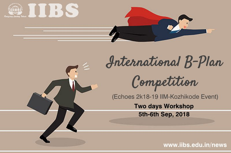 Workshop on B-Plan Competition IIM-K Echoes 2018-19 at IIBS