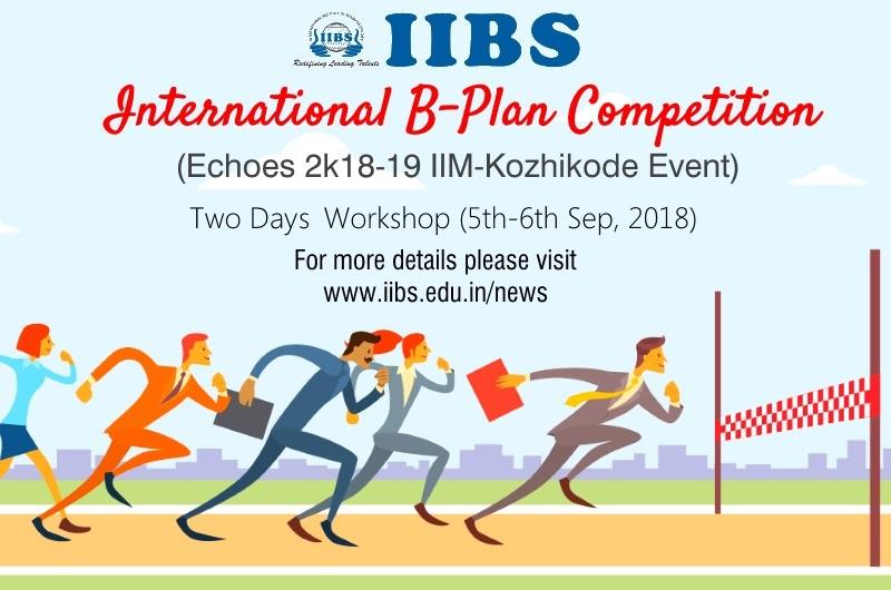 Workshop on B-Plan Competition IIM-K Echoes 2018-19 at IIBS