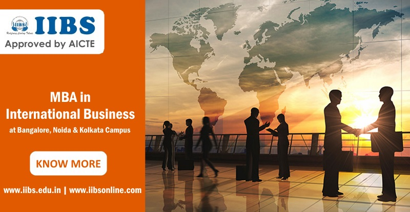 What is the scope of an MBA in International Business from Bangalore?